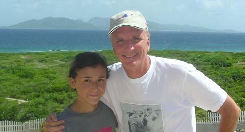 dad and yuki by Anguilla condo