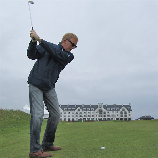 dad at carnoustie in scotland