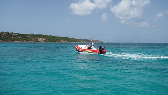 dad on freedom rental boat