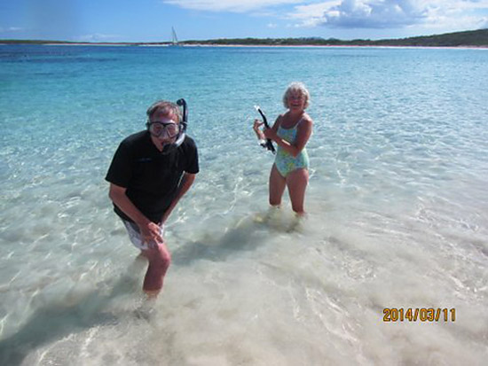 getting ready to snorkel at junks hole in anguilla
