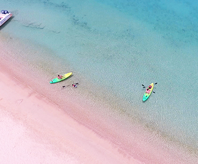 kayaking to little bay from davida on crocus bay