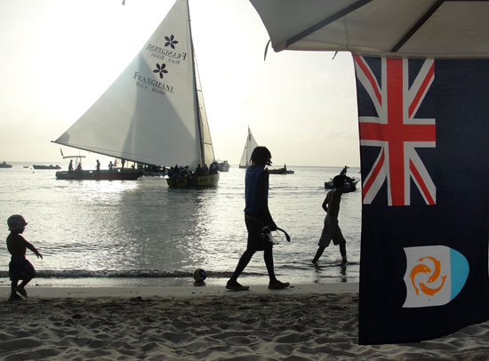end of a sail boat race in anguilla