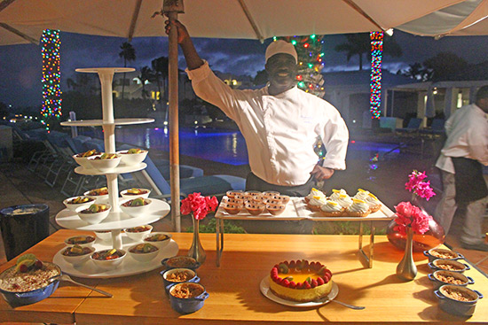 dessert station at cuisianrt bbq