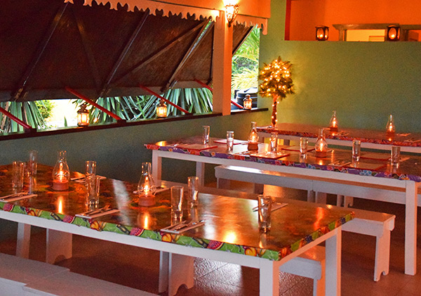 seating area for dinner at picante, anguilla