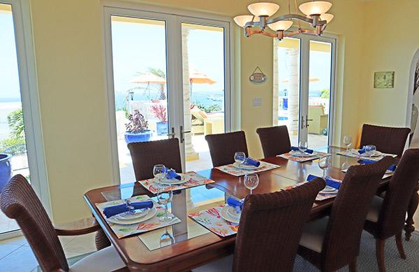 dining area at villa soleil
