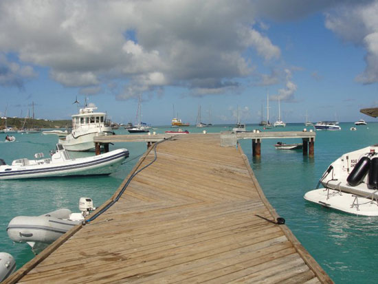 Anguilla diving, Sandy Ground wharf