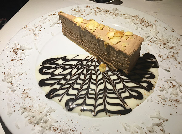 nutella cheesecake dessert at dolce vita