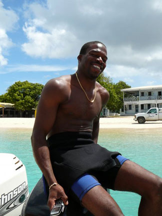 Anguilla, divemaster, Dougie Carty