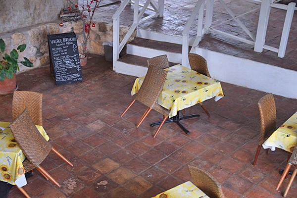 downstairs dining area of village bakehouse