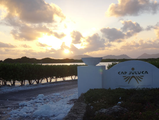 driving in Anguilla, salt pond, snow, Cap Juluca