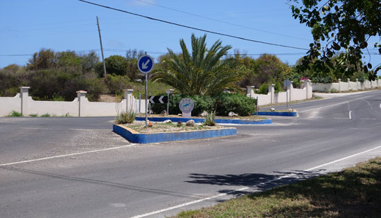 driving in Anguilla, roundabout