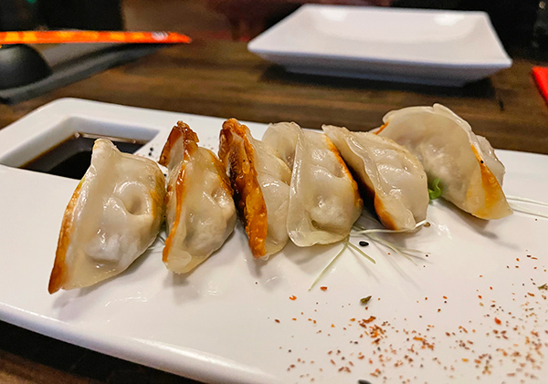 Duck Gyoza at Little Bamboo