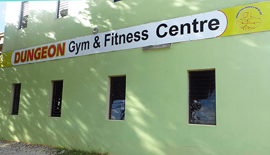 exterior of dungeon gym