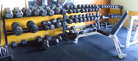 even more weights at dungeon gym