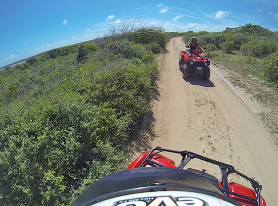 taking the anguilla atvs on savannah bays sandy back roads
