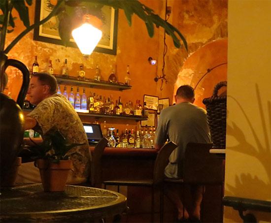 people at the bar at el picoteo