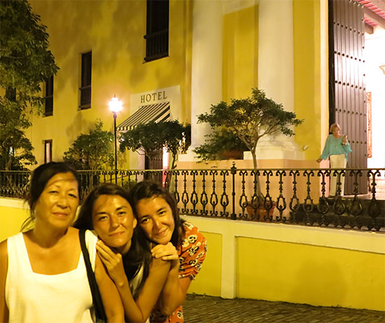 outside el convento at night