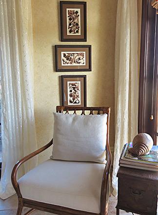 elegant touches inside bird of paradise villas lower master suite