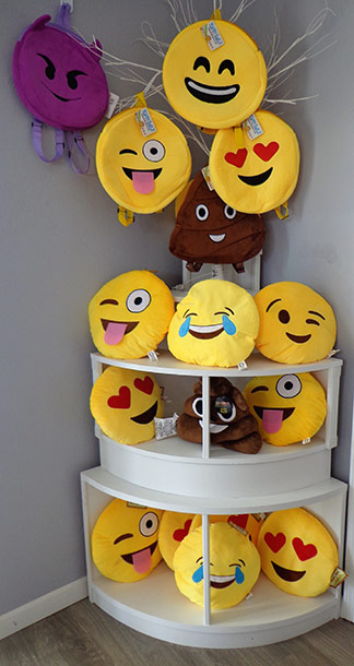 emoji pillows from the gift box