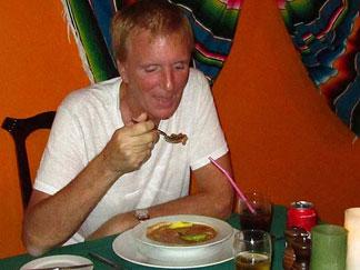 Enjoying Aztec Soup