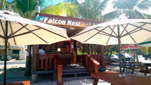 the front of falcon nest restaurant