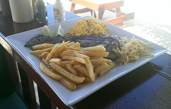 my mahi-mahi meal at falcon nest in anguilla