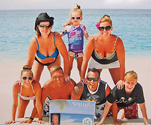 Family on Meads Bay with The Anguilla Card