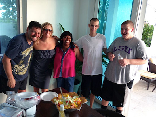 big meals in at tequila sunrise villa