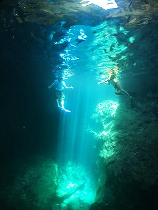 fascinating sea caves at scrub island