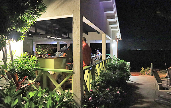 Anguilla restaurants ferryboat inn at night