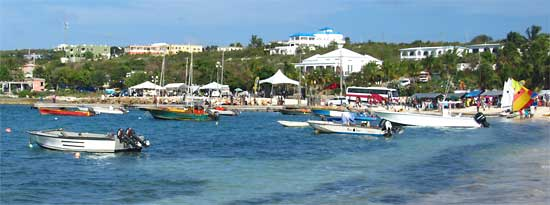 Festival Del Mar takes place every year in Anguilla's village, Island Harbour