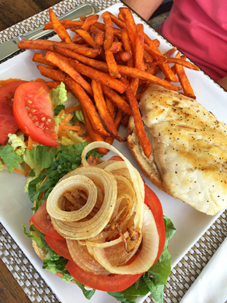 Grilled fish sandhwich from Flavours Restaurant