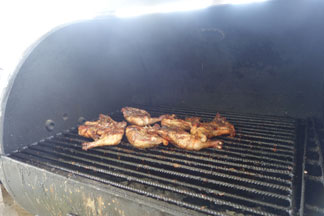 grilled chicken at fish shack and grill