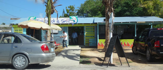 fish shack and grill exterior