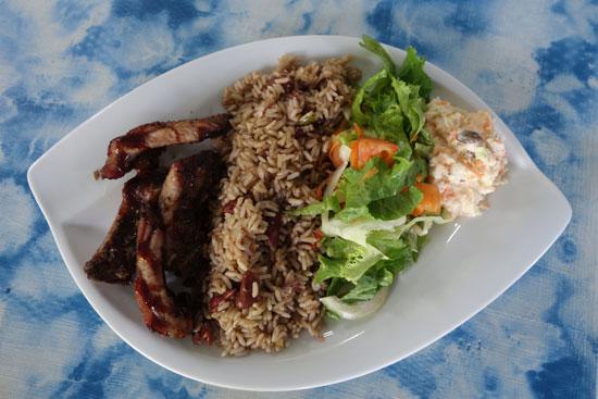 pork ribs at fish shack and grill