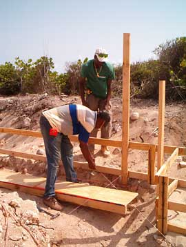 forming the footings