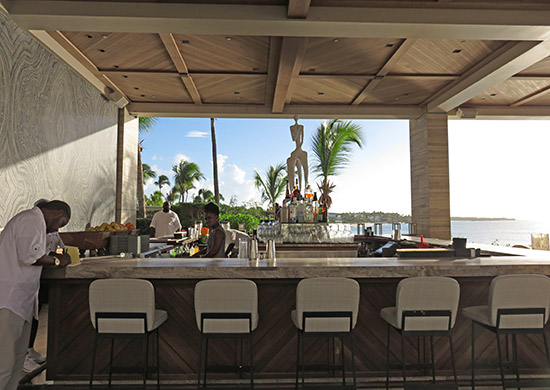 the bar inside sunset lounge at four seasons anguilla