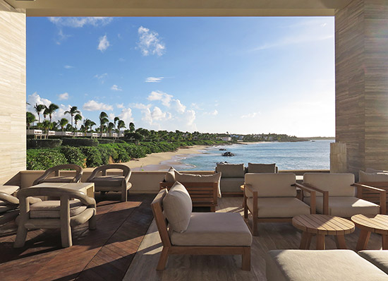 view of barnes bay from four seasons sunset lounge in anguilla