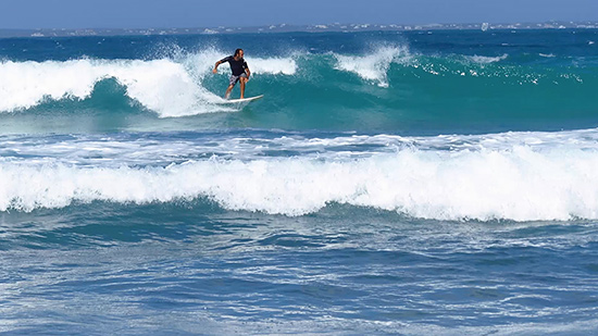 franck on the wave in st. martin