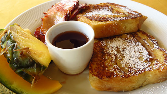 coconut french toast at frenchmans