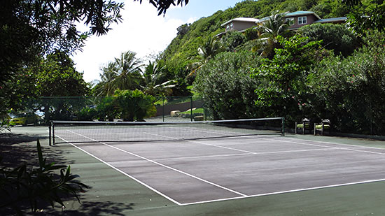 tennis courts at tortola
