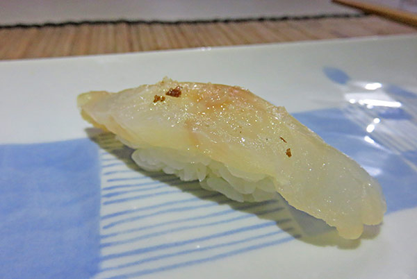 fresh snapper with lemon salt sushi in anguilla