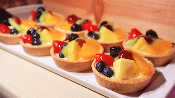 Fruit Tarts at Beach BBQ Buffet At Belmond Cap Juluca