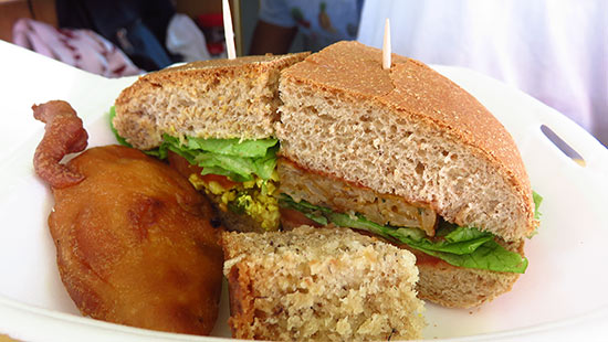 fruity web veggie burger