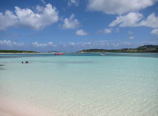 galion beach in st. martin