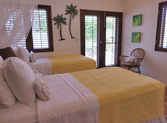 garden bedroom at beach palm at twin palms villas