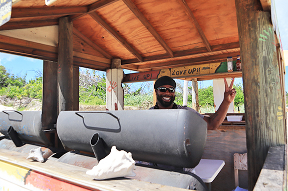 Garvey at Sunshine Shack beachbar N Grill