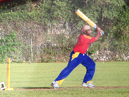 garvey playing cricket
