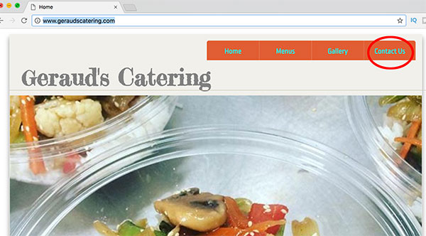 gerauds online catering contact us button