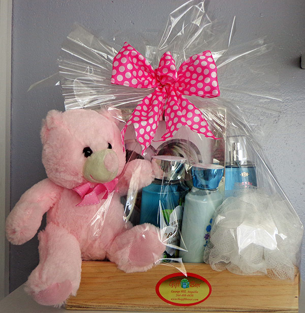 gift basket for girls at gift box